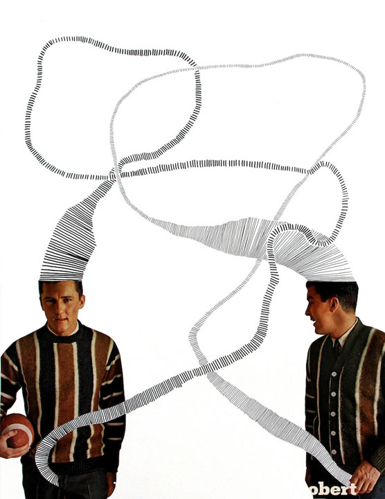 masculinity contemporary art artist Ashley Normal collage
