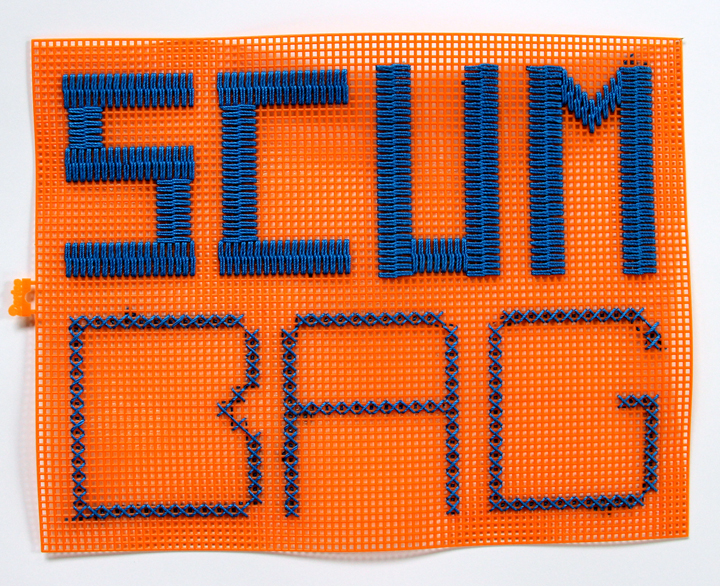 scum bag fiber art embroidery contemporary art ashley normal